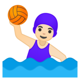 Woman Playing Water Polo: Light Skin Tone on Google Android 9.0