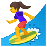 Woman Surfing on Google Android 9.0
