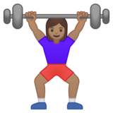 Woman Lifting Weights: Medium Skin Tone on Google Android 9.0