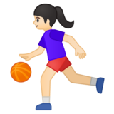 Woman Bouncing Ball: Light Skin Tone on Google Android 9.0