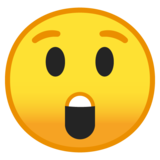 Astonished Face on Google Android 10.0