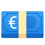 Euro Banknote on Google Android 10.0