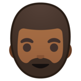 Man: Medium-Dark Skin Tone, Beard on Google Android 10.0