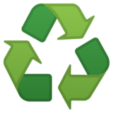 Recycling Symbol on Google Android 10.0