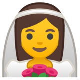Bride With Veil on Google Android 10.0