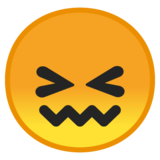Confounded Face on Google Android 10.0