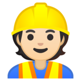 Construction Worker: Light Skin Tone on Google Android 10.0