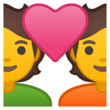 Couple with Heart on Google Android 10.0