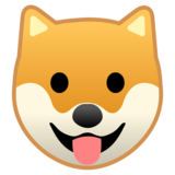 Dog Face on Google Android 10.0