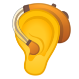 Ear With Hearing Aid on Google Android 10.0