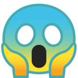 Face Screaming in Fear on Google Android 10.0