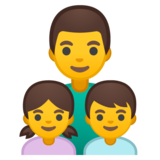 Family: Man, Girl, Boy on Google Android 10.0