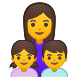 Family: Woman, Girl, Boy on Google Android 10.0