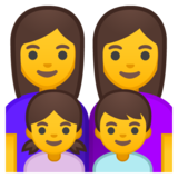 Family: Woman, Woman, Girl, Boy on Google Android 10.0