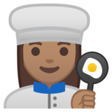 Woman Cook: Medium Skin Tone on Google Android 10.0