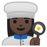 Woman Cook: Dark Skin Tone on Google Android 10.0