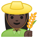 Woman Farmer: Dark Skin Tone on Google Android 10.0