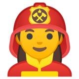 Woman Firefighter on Google Android 10.0