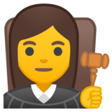 Woman Judge on Google Android 10.0
