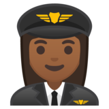 Woman Pilot: Medium-Dark Skin Tone on Google Android 10.0