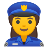 Woman Police Officer on Google Android 10.0