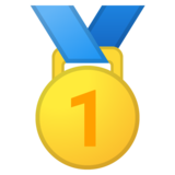 1st Place Medal on Google Android 10.0