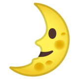 First Quarter Moon Face on Google Android 10.0