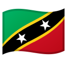 Flag: St. Kitts & Nevis on Google Android 10.0