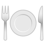 Fork and Knife With Plate on Google Android 10.0