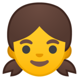 Girl on Google Android 10.0