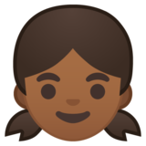 Girl: Medium-Dark Skin Tone on Google Android 10.0