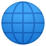 Globe with Meridians on Google Android 10.0