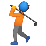 Person Golfing on Google Android 10.0