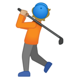 Person Golfing: Medium-Light Skin Tone on Google Android 10.0