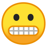 Grimacing Face on Google Android 10.0