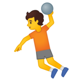 Person Playing Handball on Google Android 10.0