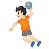 Person Playing Handball: Light Skin Tone on Google Android 10.0