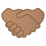 Handshake: Medium Skin Tone on Google Android 10.0