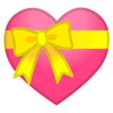 Heart with Ribbon on Google Android 10.0