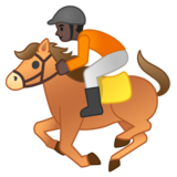 Horse Racing: Dark Skin Tone on Google Android 10.0
