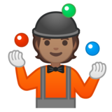 Person Juggling: Medium Skin Tone on Google Android 10.0