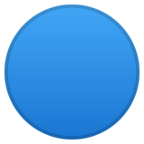Blue Circle on Google Android 10.0
