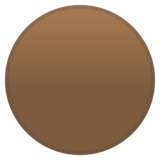 Brown Circle on Google Android 10.0