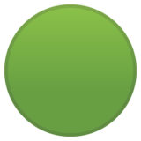 Green Circle on Google Android 10.0