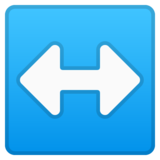Left-Right Arrow on Google Android 10.0