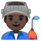 Man Factory Worker: Dark Skin Tone on Google Android 10.0
