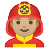 Man Firefighter: Medium-Light Skin Tone on Google Android 10.0