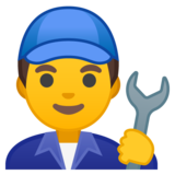 Man Mechanic on Google Android 10.0