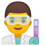 Man Scientist on Google Android 10.0
