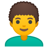 Man: Curly Hair on Google Android 10.0